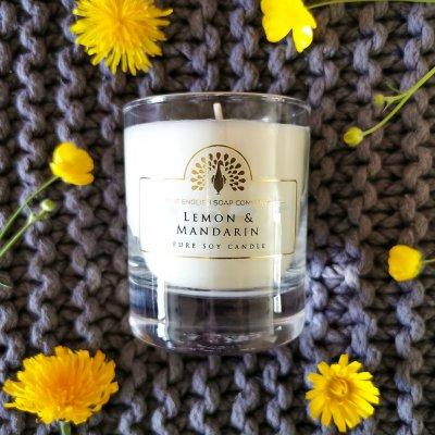 Lemon and Mandarin Soy Wax Candle