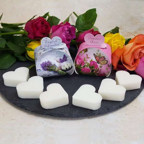 English Lavender Summer Rose Luxury Gift Guest Heart Soap