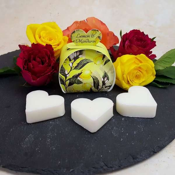 Lemon and Mandarin Luxury Guest Gift Heart Soap