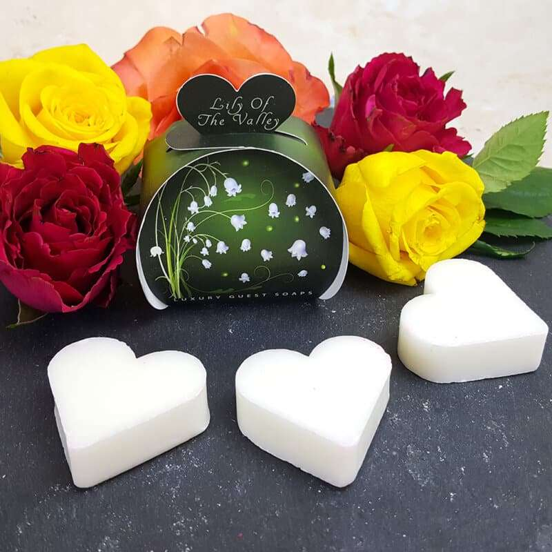Lily of the Valley Luxury Guest Gift Heart Soap
