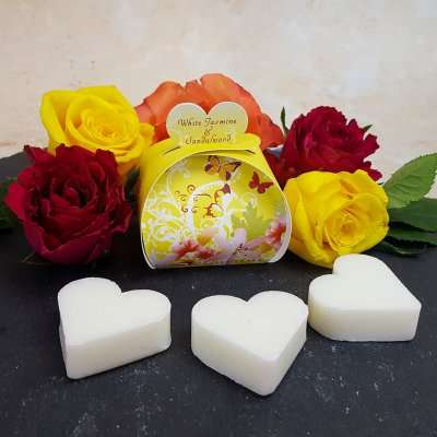 White Jasmine and Sandalwood Luxury Guest Gift Heart Soap
