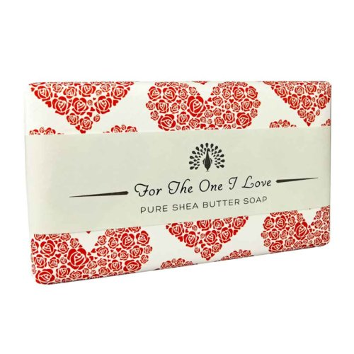 For The One I love Red Rose Soap Bar