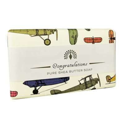 Congratulations Planes Sandalwood Soap Bar