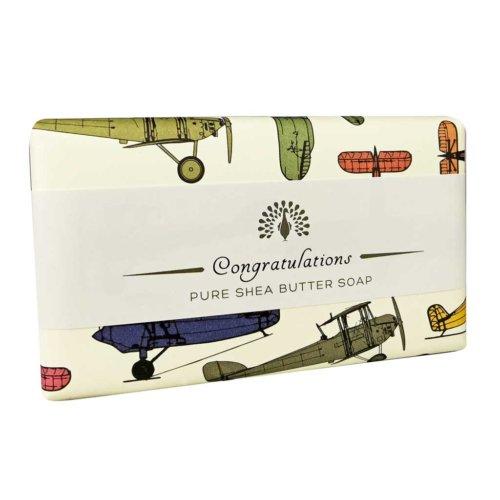 Congratulations Planes Sandalwood Soap Bar