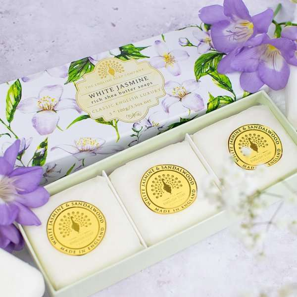 White Jasmine Triple Gift Boxed Hand Soaps