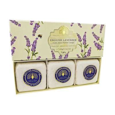 English Lavender 3 Boxed Hand Soaps