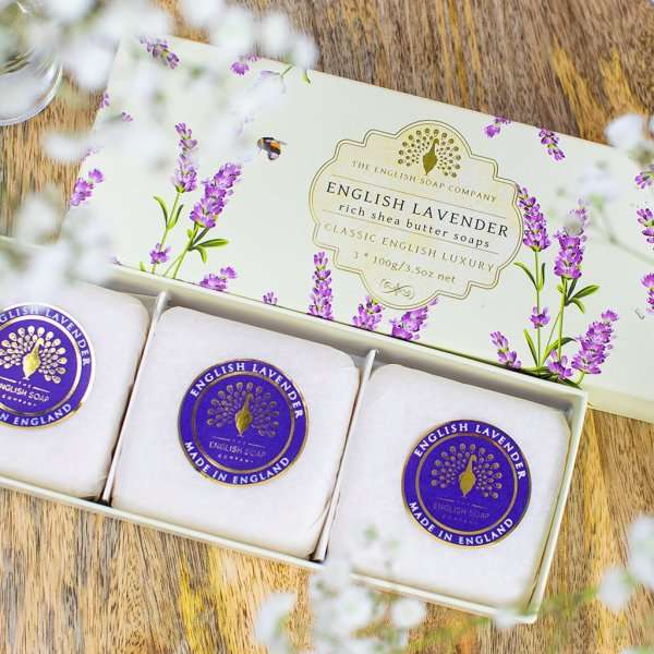 English Lavender Gift Boxed Triple Hand Soaps