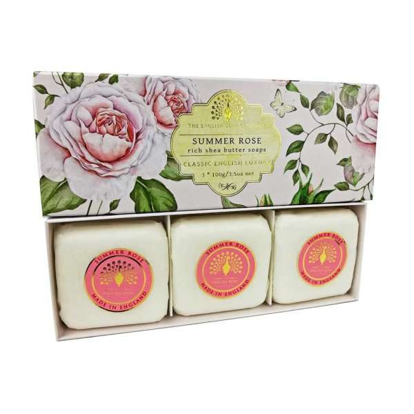 Summer Rose 3 Boxed Hand Soaps