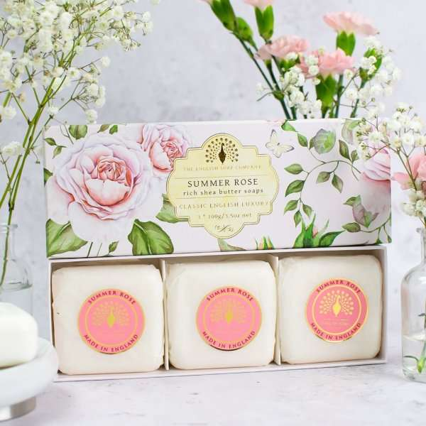 Summer Rose Triple Gift Boxed Hand Soaps