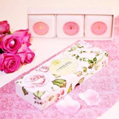 Rose Gift Boxed Hand Soaps