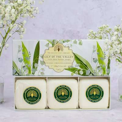 Lily of The Valley Triple Gift Boxed Hand Soaps