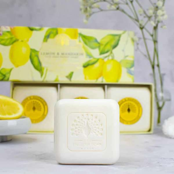 Lemon and Mandarin Triple Gift Boxed Hand Soaps