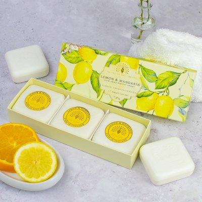 Lemon and Mandarin Triple Gift Boxed Hand Soaps