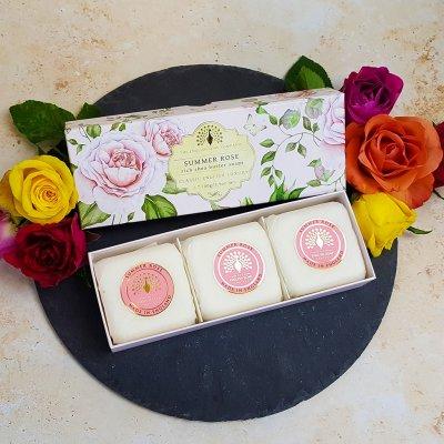 Summer Rose Triple Soap Gift Box