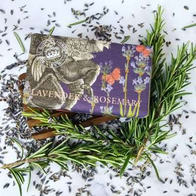 KGS0001 Kew Gardens Lavender Rosemary Soap Bar