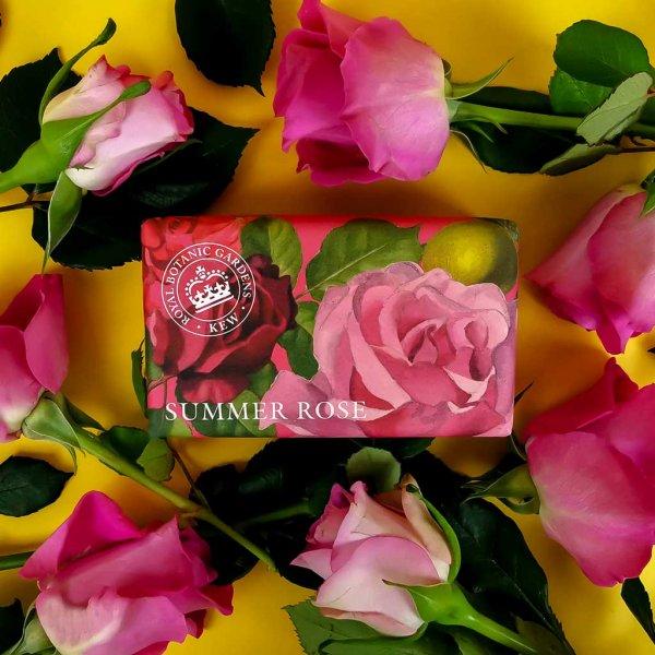 KGS0002 Kew Gardens Summer Rose Soap Bar