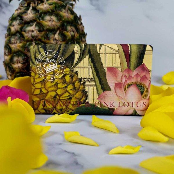 KGS0014 Kew Gardens Pineapple Pink Lotus Soap Bar
