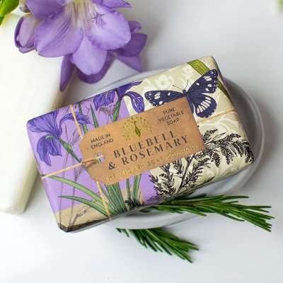 Anniversary Bluebell and Rosemary Soap Bar