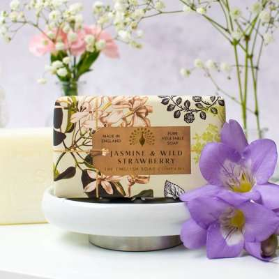 Anniversary Jasmine and Wild Strawberry Soap Bar