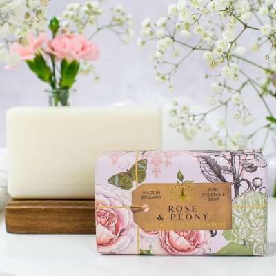 Anniversary Rose and Peony Soap Bar