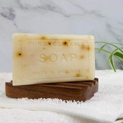 Vintage Seaweed Soap Bar Unwrapped