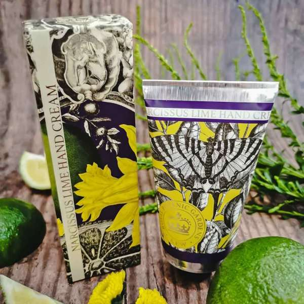 KGHC0015 Kew Gardens Narcissus Lime Hand Cream Low Res