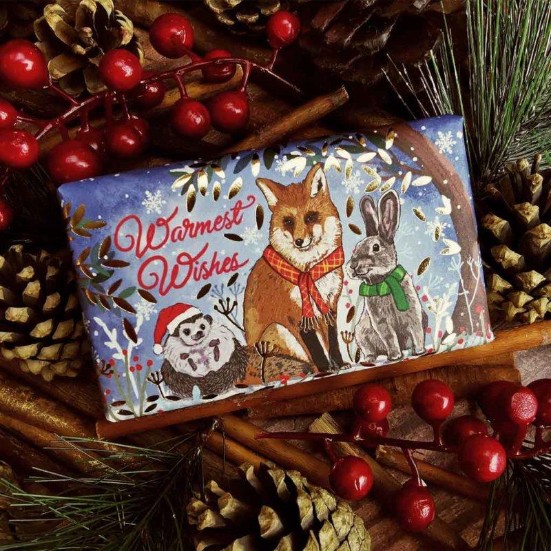 CHX001 Warmest wishes Winter Animals Soap bar 2