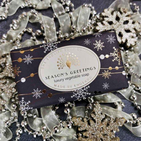Season's Greetings Christmas Soap