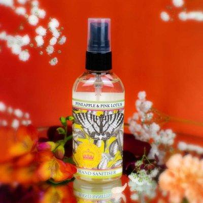 KGA014 Pineapple & Pink Lotus Hand Sanitiser Kew Gardens