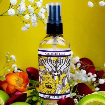 KGA015 Narcissus Lime Hand Sanitiser Kew Gardens