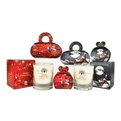 Large Christmas Gift Soap and Candle Set