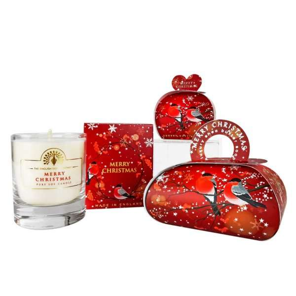 Small Christmas Gift Soap and Candle Set