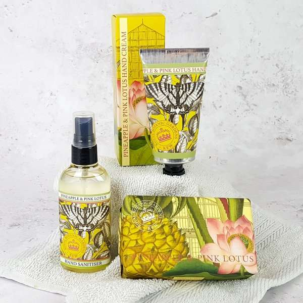 Choose Your Own Kew Gardens Hand Care Set Pineapple and Pink Lotus