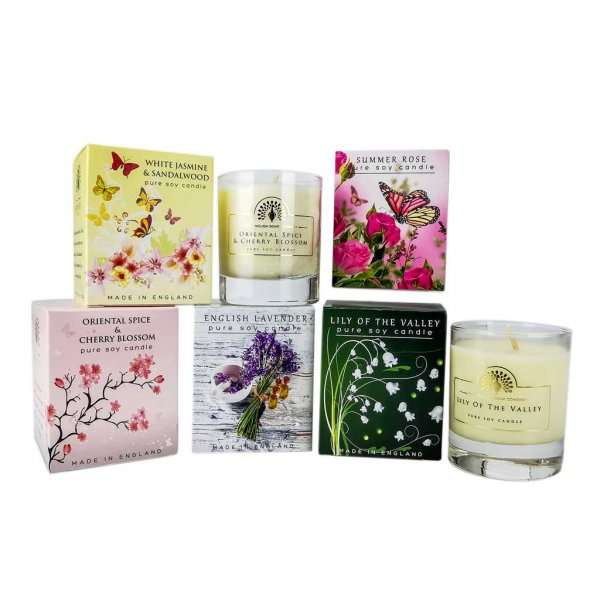 Five Scented Candles Set