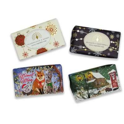 Christmas 4 Bar Soap Set