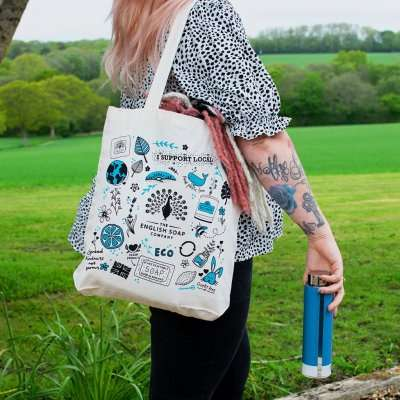 The English Soap Company 100% Recycled Tote Bag