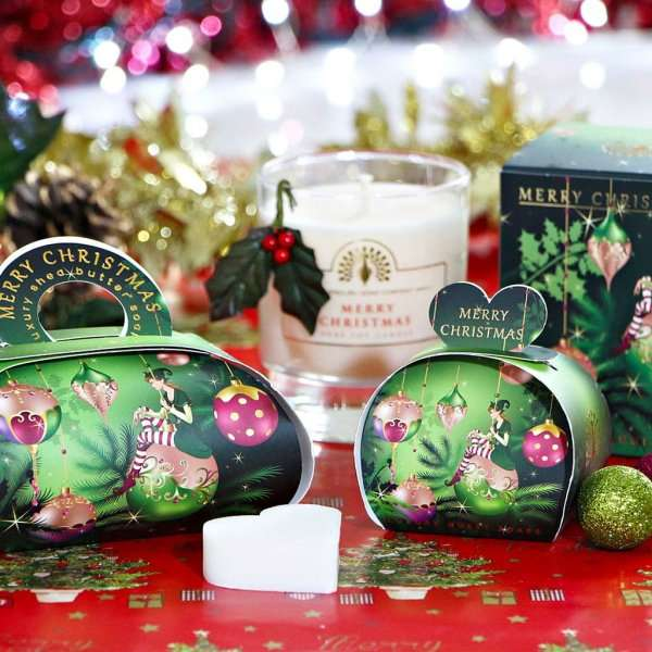 Christmas Gift Soap and Candle Set Elf