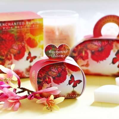 Gift Soap and Candle Set Enchanted Blooms