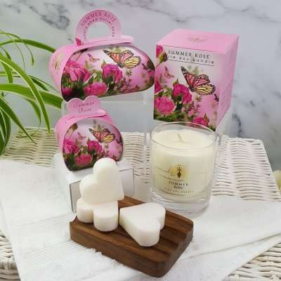 Gift Soap and Candle Set Summer Rose