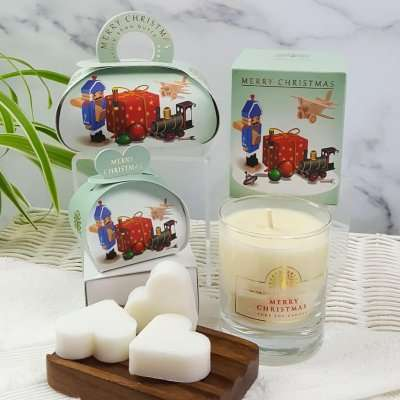 Christmas Gift Soap and Candle Set Vintage Toys