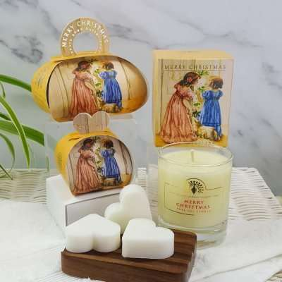 Christmas Gift Soap and Candle Set Victorian Christmas