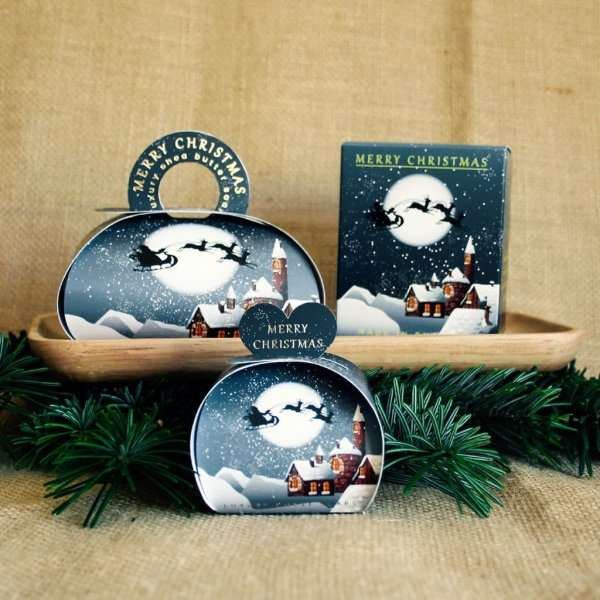 Winter Village Christmas Gift Soap and Candle Set