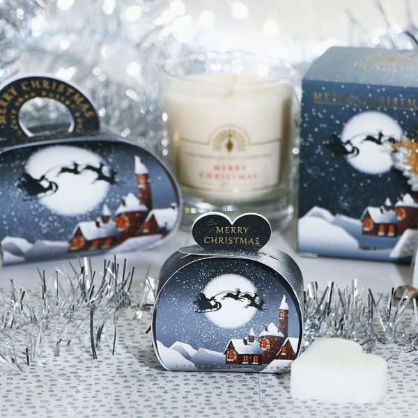 Christmas Gift Soap and Candle Set Winter Village