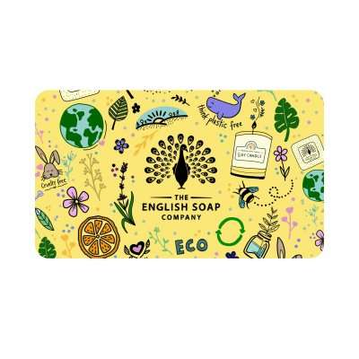 The English Soap Company Yellow Gift Card