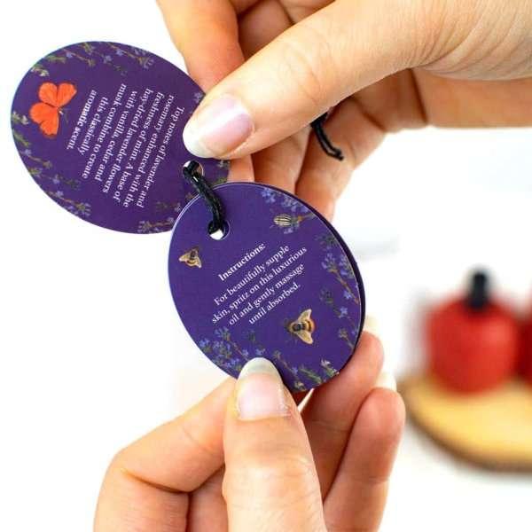 Kew Gardens Lavender and Rosemary Body Oil Label