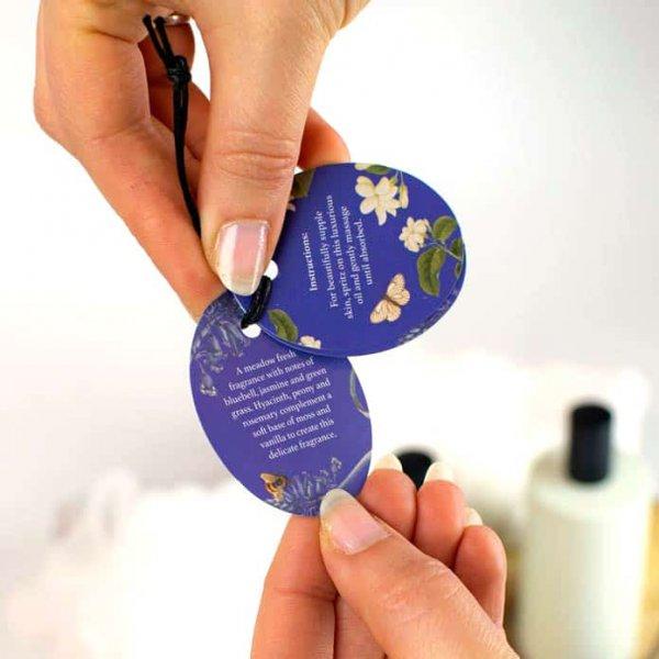 Kew Gardens Bluebell and Jasmine Body Oil Label