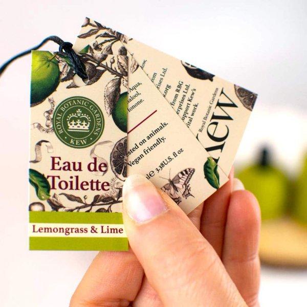 Kew Gardens Lemongrass and Lime Eau de Toilette Label