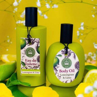 Kew Gardens Lemongrass and Lime Body Oil and Eau de toilette