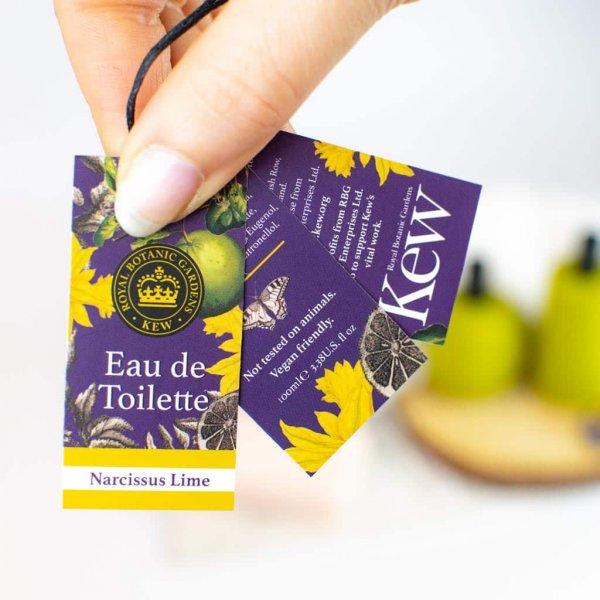 Kew Gardens Narcissus Lime Eau de Toilette Label