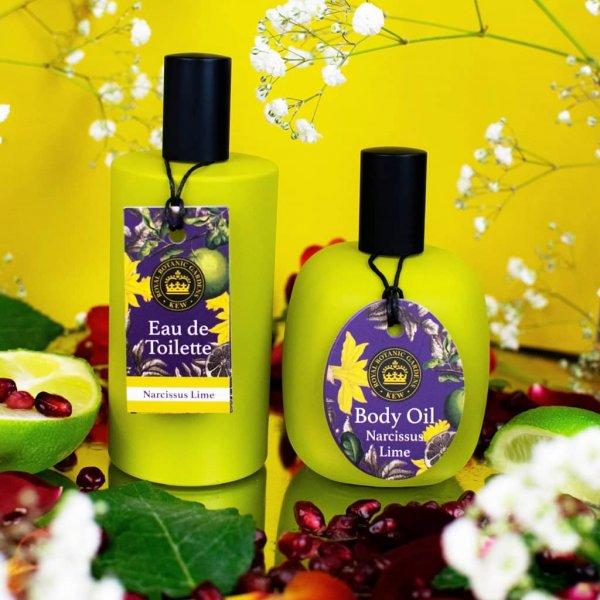 Kew Gardens Narcissus Lime Body Oil and Eau de toilette